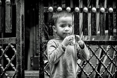Young child in the alley (AJ Photographic Art) Tags: india asia bangalore