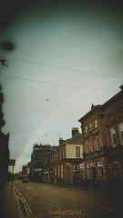 Inverness Today (Mark.L.Sutherland) Tags: road sky seagulls weather birds scotland flying highlands rainbow north streetphotography samsung phonecamera raining sutherland today effect inverness photograpy galaxys5