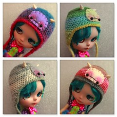 Baby Fangsters (EssHaych) Tags: new doll hats clothes blythe etsy helmets shopupdate erikosemporium