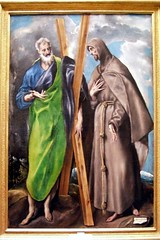 St. Andrew and St. Francis - Domnikos Theotokpoulos (called El Greco) (alplatt) Tags: portrait seascape art museum painting landscape spain artist fineart painter bible artmuseum