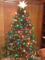 Tree at my office (JeffCarter629) Tags: christmas vintage christmastree vintagechristmas christmasideas vintagechristmaslights glostar