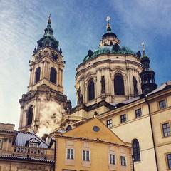 St. Nicolaus church, Prague (veveru) Tags: street city winter church europe czech prague prag praha czechrepublic iphone