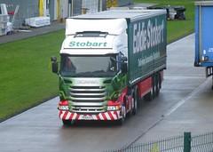 H2163 - PE64 UTL (Cammies Transport Photography) Tags: truck amazon centre lorry eddie distribution scania dunfermline esl utl stobart eddiestobart johnina r450 pe64 h2163 pe64utl