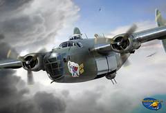 Lt. Louis Zamperini's B-24D 'Super Man' by Ron Cole (ColesAircraft) Tags: art movie cole aviation wwii ron ww2 liberator b24 b24d unbroken zamperini