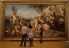 "Henryk Hektor Siemiradzki (1843-1902) Fryne na święcie Posejdona w Eleusis/Frina at the Festival of Poseidon in Euleusis, 1889, oil on canvas, 390×763,5 cm (Sergei P. Zubkov) Tags: november art painting stpetersburg kunst 2014 malerei museum"" ""russian"
