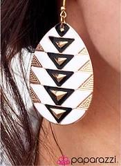 5th Avenue White Earrings K2 P5611-1