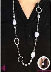 5th Avenue White Necklace P2610A-2