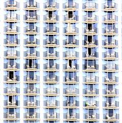 symphony of balconies (tasawa69) Tags: building facade hawaii pattern waikiki highcontrast repetition