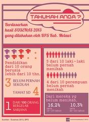 Kabupaten Melawi : Pendidikan & Perkawinan (2013) (muhammadabaziz) Tags: statistik barat kalimantan bps perkawinan pendidikan 2013 kabupaten melawi infografis susenas