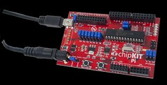 chipKIT Pi: Add-on board for Raspberry Pi (Digilent, Inc.) Tags: hardware student touch pi memory processing professor electronic maker audio mcu microcontroller hobbyist sensing digilent pic32 chipkit mpide spdip