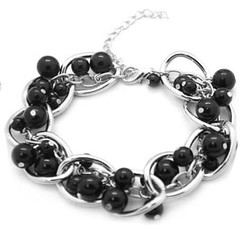 5th Avenue Black Bracelet P9910-3