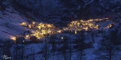 Al Caer la noche (Urugallu) Tags: espaa canon noche spain flickr nieve nocturna espagne frio norte sotres picosdeeuropa asturies cabrales caballar 70d joserodriguez principadodeasturias urugallu asrturias