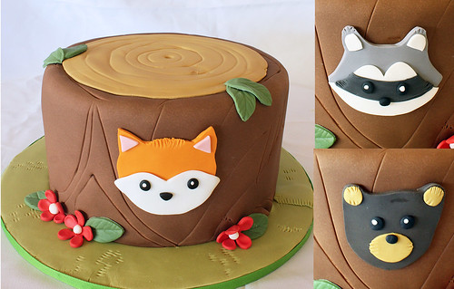 Woodland Animal Designer Cake with options