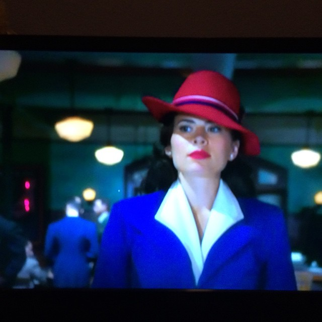 Watching Marvels Agent Carter. #lovethehat