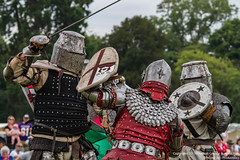 St George Knight (Proper Job Productions) Tags: berkeley fight knights conflict knight swords armour nations skirmish recreationist berkeleyskirmish conflictofnations