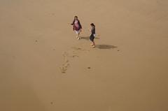 _DSC1471  what a wonderful beach!. (Seaton Carew.) Tags: outdoors freedom golden sand space fullframe twogirls twoshadows bigbeach sonya7 dorsetbest danceanyone