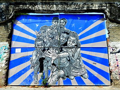 urban art (1jonathan1) Tags: street door old morning blue light urban sun art kids graffiti town calle nikon paint artist arte zoom walk urbano childs cartagena getsemani cartagenadeindias