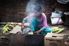 Cooking Corn (Mark S Weaver) Tags: kathmandu nepa