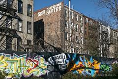 1st Street Garden (Joel Raskin) Tags: nyc newyorkcity windows streetart les buildings graffiti sony lowereastside fireescape urbanpark rearwindows firststreetgarden rx100iv 1ststreetgarden