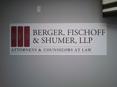 Berger Fischoff & Shumer Signage (SirSpeedyPlainview) Tags: new york city nyc signs ny cold sign metal print island li harbor office spring hp long acrylic manhattan huntington vinyl plastic printing signage cutting lic bethpage speedy sir cutter contour inexpensive syosset pvc attorney options flatbed plotter plainview woodbury melville sirspeedy sirspeedyplainview ssplainview