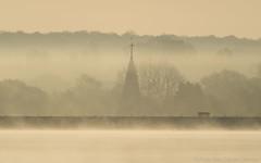 Church seat (Peter MacCallum-Stewart) Tags: mist church arlington sussex seat earlymorning
