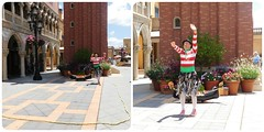 STREET ENTERTAINER IN ITALY AT EPCOT (Visual Images1) Tags: two epcot diptych 6ws picmonkey