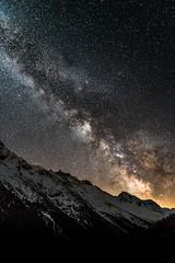 under Stars (JimiaS) Tags: sky mountain inspiration night montagne wow stars star switzerland nikon suisse outdoor swiss space ngc explore ciel nikkor nuit wallis infinite espace toiles valais d800 milkyway cieux 2470f28 voielacte infini