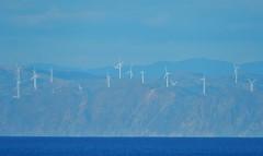 Windmills on the Coast (mikecogh) Tags: ferry coast ride windmills northisland eastbay distance faint windpower turbines