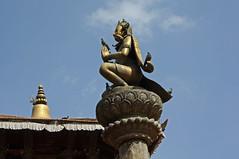 70. Garuda Piller, Durbar Square, Patan City, Kathmandu Valley, Nepal (Jay Ramji's Travels) Tags: nepal sculpture kathmandu hindu patan garuda kathmanduvalley durbarsquare piller patancity