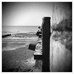 The beach (Nick. Skinner) Tags: blackandwhite bw beach seaside whitstable gryone