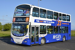 6907 - X23MCG (DavidsBuses) Tags: mcgills daf 6907 mcgillsbarrhead wrightpulsargemini lj05 lj05bne x23mcg mcgillbarrhead