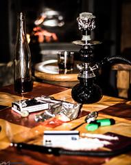 Vices (Javi Guerrero F) Tags: chimney fire drink smoke bad fake smoking drinks alcohol drugs drogas habits vices chimenea vicio vicios cachimba