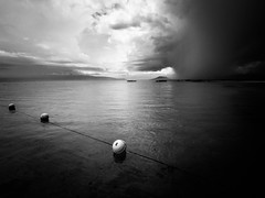 Ph Quc 08 (arsamie) Tags: sea cloud sun white storm black beach rain contrast island horizon vietnam monsoon float far thunder phu quoc