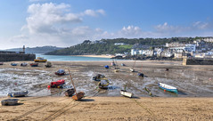 St Ives harbour at low tide (Baz Richardson (trying to catch up!)) Tags: coast cornwall stives sandybeaches cornishharbours