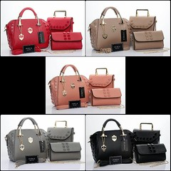 Import @290 Bag Furla 1181 3in1 27x14x24cm Taiga #Antigona#SemiPremium#Black#Red#Grey#Babypink#Khaki (merboutique) Tags: red black grey khaki antigona babypink semipremium