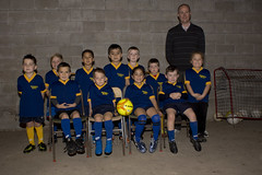 2016 Thames Junior Football Club 02 (C & R Driver-Burgess) Tags: blue girls silly boys smile yellow socks wall kids children concrete stand coach uniform boots soccer young shirts sit block shorts manager