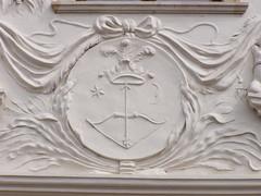 Klobuick Palace, Preov (DeBeer) Tags: architecture facade emblem symbol decorative decoration relief ornament slovakia baroque annunciation 18thcentury stucco rococo putti presov 1756 preov 1750s 18thcenturyart klobusiczky klobuick