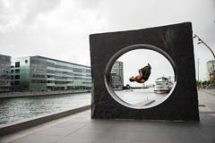 (Dark Flash) Tags: friends art fun jumping day sweden structure danny malm parkour backflip