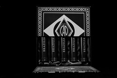 CAO Brazilia cigar box and tubes in b&w (kevinellison62) Tags: blackwhite cigars tobacco cigartubes