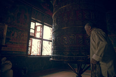 (Alek S.) Tags: nepal buddhism buddhist stupa boudhanath prayerwheel interior kathmandu