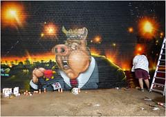 Telling Porkies (donbyatt) Tags: urban streetart festival graffiti birmingham spraycans urbanwalls si2 cityofcolours
