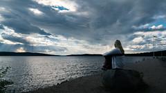 Vsman (marcusholmqvist) Tags: summer cloud weather clouds cloudy sweden beam sverige rays sunrays dalarna cloudscape vder sunbeams sommar ludvika moln piren solstrlar vsman