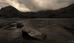 Moody Buttermere (Emmog) Tags: summer lake nature clouds moody mask lakedistrict atmosphere fusion hdr buttermere luminosity