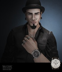 #288. If only just for a moment hold on to the dreams that we had (Gui Andretti) Tags: men man guys boys watch skin meshhead ak clefdepeau deadwool mandala kunst collabor88 theforest kustom9 mensdept mesh head hat style fashion badass digitalart second life avatar lifestyle