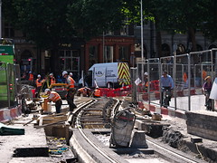 Luas Cross City Works at College Green (turgidson) Tags: luas ireland dublin public transport publictransport light rail lightrail tram infrastructure transportinfrastructureireland transdev cross city luascrosscity construction track laying panasonic lumix dmc g7 panasoniclumixdmcg7 panasonicg7 micro four thirds microfourthirds m43 g lumixg mirrorless x vario 35100mm 35100 f28 hhs35100 telephoto zoom lens panasonic35100 panasoniclumixgxvario35100mmf28 silkypix developer studio pro 7 silkypixdeveloperstudiopro7 raw p1030053 college green collegegreen