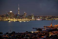 Auckland at Dusk (hapulcu) Tags: newzealand bluehour auckland devonport nz dusk sunset