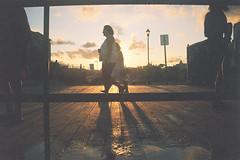 Walking on the boardwalk (andrewkatchen) Tags: asburypark newjersey jerseyshore beach ocean nikon film 35mm portra400 n6006