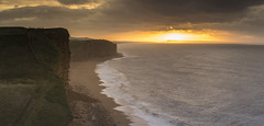 West Bay (scott.hammond34) Tags: landscape seascape westbay dorset jurrasiccoast sunrise sunlight goldenhour goldenlight cliffs rocks sea coast waves outdoor scenic canon6d eos
