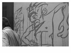 Pain in the neck (bruXella & bruXellius) Tags: streetart urbanart saintgilles brssel bruxelles brussels brussel belgien belgique belgium belgi leicax1 blackwhite monochrome