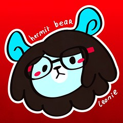 BurpDoodle Hermit  Leonie Apparently Im a fraud if I call myself this without an avatar that matches so hullooooo! I dont know what Im doing in Illustrator still .___. (TripleUinfinity) Tags: burpdoodle leonieyue hermit bear leonie vector art
